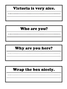 Handwriting Sentences!