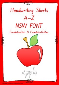 Handwriting Worksheets A to Z NSW FONT