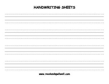 Handwriting Sheets - Landscape