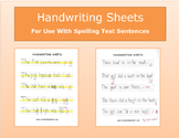 Handwriting Sheets - Landscape