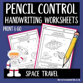 Handwriting Sheets Space Travel