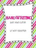 Handwriting {Short Vowel Edition}