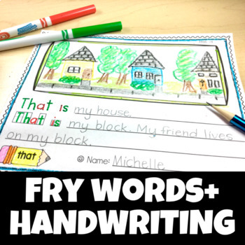 Handwriting Sight Words High Frequency Fry Writing