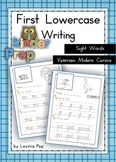 Handwriting - Sight Words {Lowercase Letters} Vic. Modern Cursive font