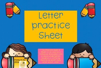Handwriting Skills Practice Sheet