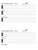 Handwriting Spelling Word Practice Activity