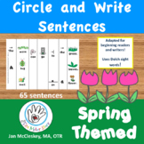 Sentence Building with Pictures Spring Themed