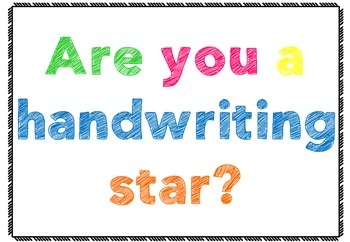 Handwriting Stars