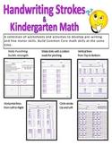 Handwriting Strokes and Kindergarten Math