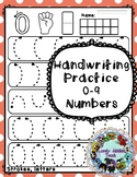 Handwriting Strokes to Practice the Numbers 0 to 9