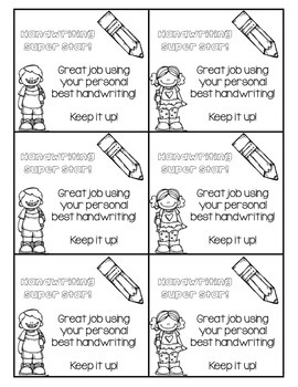 Handwriting Super Stars... FREEBIE!