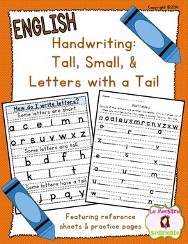 Handwriting: Tall, Small, and Letters with a Tail (English)