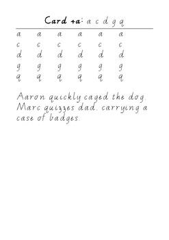 Handwriting Task Cards: acdgq