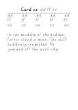 Handwriting Task Cards: dd ff oo