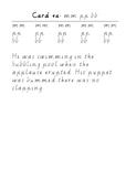 Handwriting Task Cards: mm pp bb