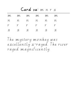 Handwriting Task Cards: mnrx