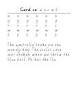 Handwriting Task Cards: uyvwb
