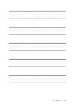 Handwriting Template