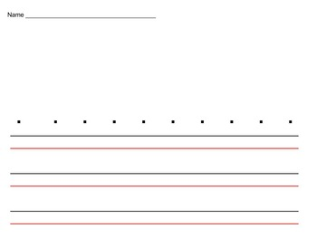 Handwriting Template for Upper and Lower Case Letter Formation
