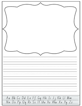Handwriting Templates with Alphabet Guides