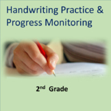 Handwriting Practice and Progress Monitoring--2nd Grade Common Core