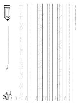 Handwriting Trace and Write