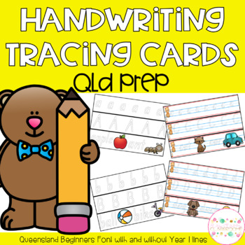 Handwriting Tracing Cards - Queensland Beginners Font PREP