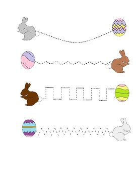 Handwriting Tracing Worksheet Easter Theme Freebie