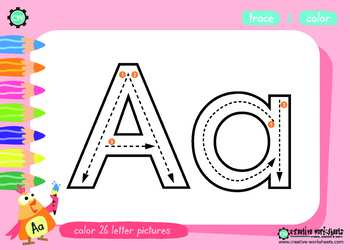 Handwriting & Tracing Worksheets & Songs (A-Z)