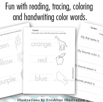 Handwriting Tracing and Number Exercises Handout Fun Printable