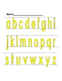 Handwriting-Tracing highlighted letters