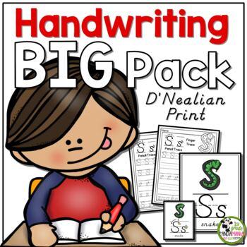 Handwriting ULTIMATE Pack! {D'Nealian/Modern Manuscript Print}