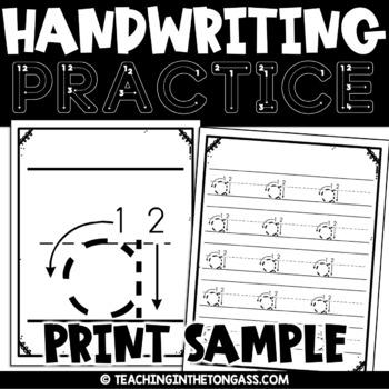 Handwriting Visuals (h & b) Free
