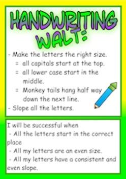Handwriting WALT