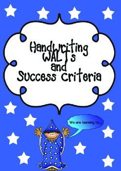 Handwriting WALTs and Success Criteria