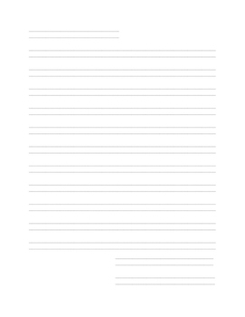 Handwriting Without Tears 2nd Grade Letter Paper