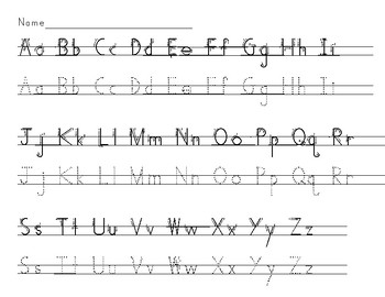 Handwriting Without Tears Alphabet Worksheets #2