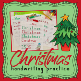 Handwriting Without Tears CHRISTMAS handwriting practice - winter handwriting