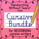 Handwriting Without Tears CURSIVE BUNDLE - handwriting practice worksheets