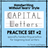 Handwriting Without Tears® style CAPITAL LETTER Handwritin