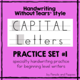 Handwriting Without Tears Capital Letters Practice Sheets Set #1 - Upper case