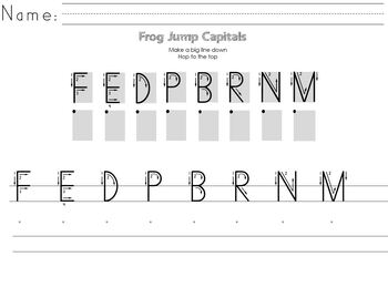 Handwriting Without Tears Capital Review Pages