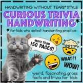 Handwriting Without Tears® style DAILY PRACTICE Fun Trivia