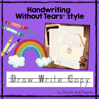 Handwriting Without Tears Draw, Write, and Copywork - FUN handwriting practice