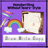 Handwriting Practice - Kindergarten creative writing drawi