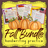 Fall - Handwriting Without Tears Fall Handwriting Practice BUNDLE - Thanksgiving