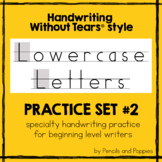 Handwriting Without Tears® style lowercase practice handwr