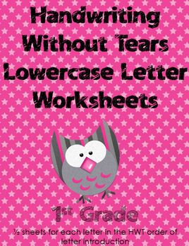 Handwriting Without Tears Lowercase Review Pages