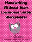 Handwriting Without Tears Lowercase Worksheets