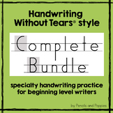 Handwriting Without Tears EVERYTHING Bundle - Authentic HWT practice worksheets